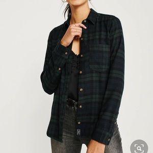 Abercrombie soft A/F Plaid Flannel Button Up Shirt